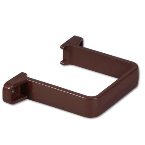 Square Down-Pipe Clip (Flush) Floplast Brown RCS2